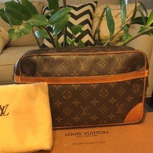 Authentic Louis Vuitton Compeigne Clutch bag